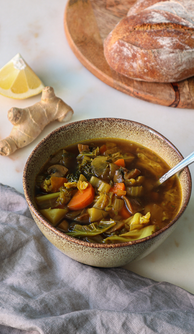 This detox vegetable soup will get you through the winter and help boost your immunity. The recipe contains lots of detoxifying ingredients that feel good to the body and soul.