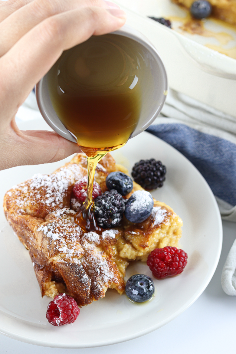 This easy recipe for overnight French Toast Casserole makes a perfect weekend breakfast everyone at the table will appreciate!